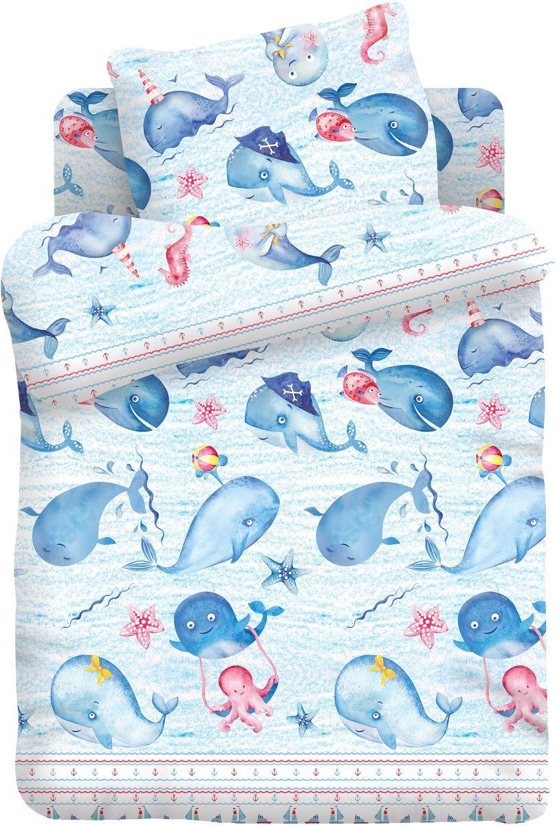 Кошки-мышки Комплект детского постельного белья Китята цвет голубой 3 предмета368176
