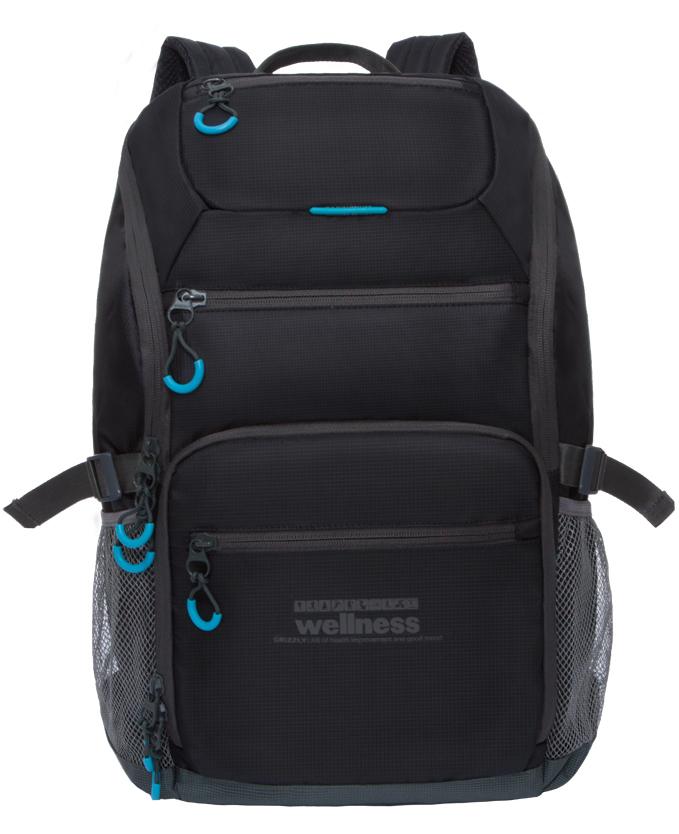 Рюкзак спортивный Grizzly, цвет: черный. RU-710-1/3Z90 blackСпортивный рюкзак Grizzl выполнен из высококачественного нейлона. Рюкзак имеет ручку-петлю для подвешивания и две удобные лямки, длина которых регулируется с помощью пряжек. Модель имеет одно основное отделение, которое оснащено внутренним карманом для гаджета и карманом на молнии. Верхней части рюкзака находятся карман быстрого доступа, а также передняя стенка дополнена двумя втачными карманами на застежке-молнии. На боковых стенках расположены открытые кармашки без застежки. Тыльная сторона спортивного рюкзака выполнена с анатомической спинкой и боковыми стяжками-фиксаторами.