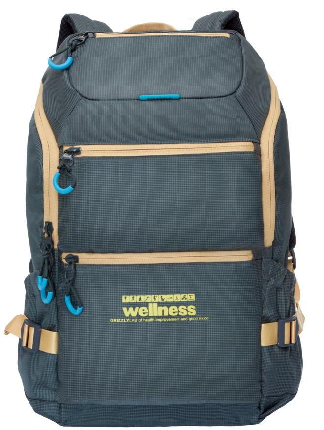 Рюкзак спортивный Grizzly, цвет: серо-синий. RU-710-2/195429-924Спортивный рюкзак Grizzl выполнен из высококачественного нейлона. Рюкзак имеет ручку-петлю для подвешивания и две удобные лямки, длина которых регулируется с помощью пряжек. Модель имеет одно основное отделение, которое оснащено внутренним карманом для гаджета и карманом на молнии. Верхней части рюкзака находятся карман быстрого доступа, а также передняя стенка дополнена двумя втачными карманами на застежке-молнии. На боковых стенках расположены открытые кармашки без застежки. Тыльная сторона спортивного рюкзака выполнена с анатомической спинкой и боковыми стяжками-фиксаторами.
