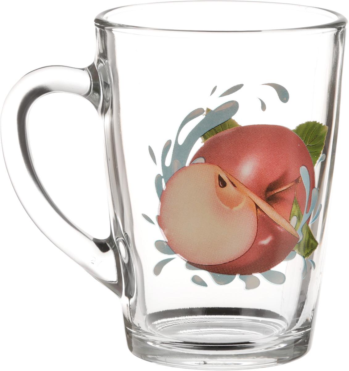 Кружка OSZ Капучино. Яблоко красное, 300 млFS-91909Кружка OSZ Капучино. Яблоко красное изготовлена из стекла и декорирована принтом.Диаметр (по верхнему краю): 7,5 см. Высота: 11 см.