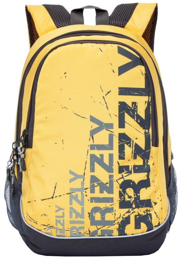 Рюкзак городской мужской Grizzly, цвет: желтый, черный. RU-721-1/4RU-721-1/4Рюкзак городской Grizzl выполнен из высококачественного нейлона в сочетании с полиэстероми оформлен оригинальным принтом. Рюкзак имеет петлю для подвешивания и две удобные лямки, длина которых регулируется с помощью пряжек. Модель имеет два основных отделения, которые оснащены составным пеналом-органайзером и подвесным карманом на молнии.Боковые стороны модели выполнены с двумя карманами из сетки. Тыльная сторона рюкзака имеет анатомическую спинку.