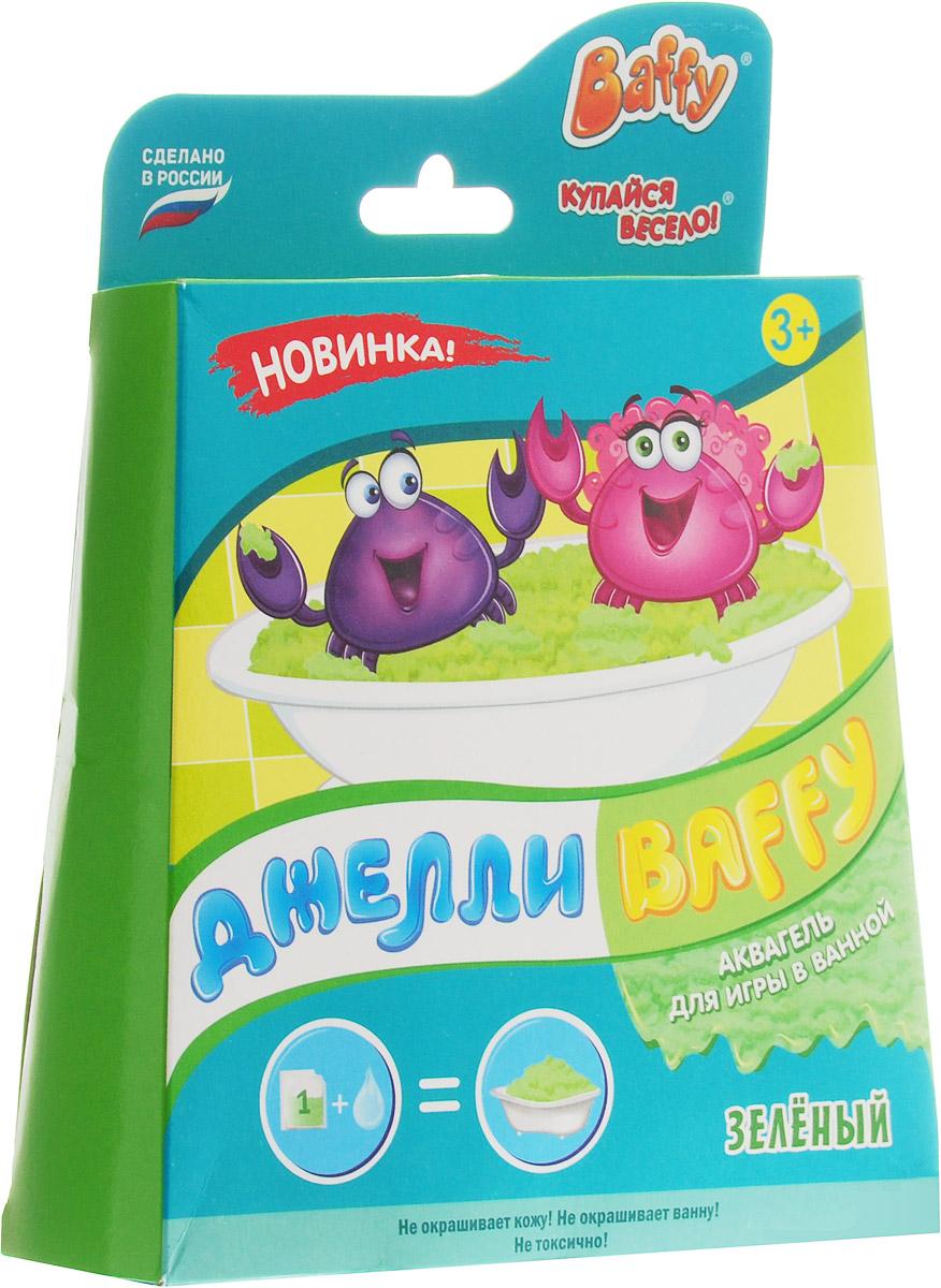 Baffy Набор средств для купания Джелли цвет зеленыйFS-00897Набор средств для купания Baffy Джелли сделает пребывание в ванне очень веселым.Купание превратится в интересную увлекательную игру с помощью аквагеля. Наблюдайте за волшебством: вода легко превращается в желе и обратно!Развивайте мелкую моторику у ребенка даже во время принятия ванны!
