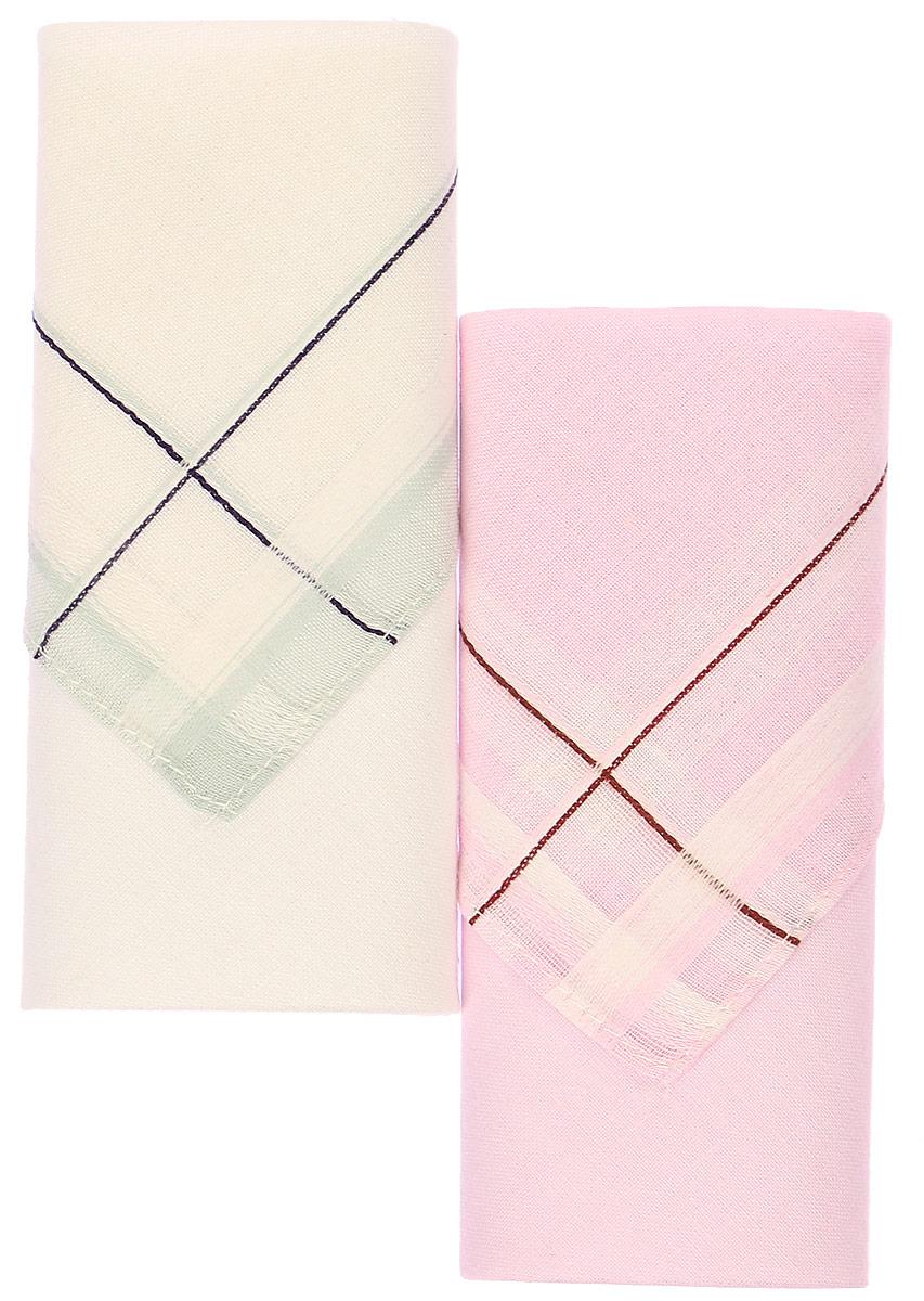 Платок носовой женский Zlata Korunka, цвет: белый, розовый, 2 шт. 71225-5. Размер 34 см х 34 см39864 Серьги с подвескамиНебольшой женский носовой платок Zlata Korunka изготовлен из высококачественного натурального хлопка, благодаря чему приятен в использовании, хорошо стирается, не садится и отлично впитывает влагу. Практичный и изящный носовой платок будет незаменим в повседневной жизни любого современного человека. Такой платок послужит стильным аксессуаром и подчеркнет ваше превосходное чувство вкуса.В комплекте 2 платка.