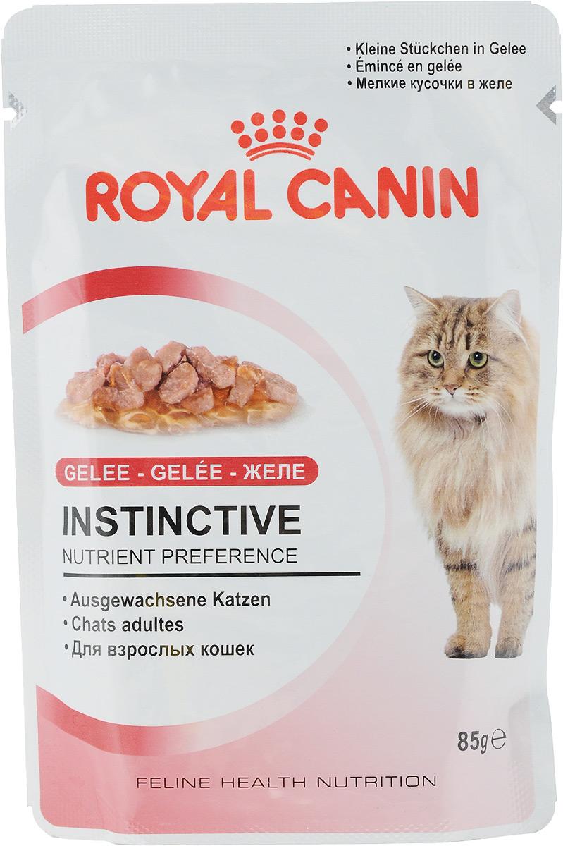 Консервы Royal Canin Instinctive, для кошек старше 1 года, мелкие кусочки в желе, 85 г0120710Консервы Royal Canin Instinctive - полнорационный влажный корм для кошек старше 1 годаКакой бы здоровой ни была пища, если кошка не захочет ее есть, от нее будет мало пользы! Взрослые кошки предпочитают особую формулу Macro Nutritional Profile.У взрослых кошек и котов, особенно стерилизованных или кастрированных, повышается риск заболевания мочекаменной болезнью.Их рацион должен содержать питательные вещества, необходимые для поддержания их жизненной энергии, и в то же время способствовать сохранению идеального веса.Корм INSTINCTIVE 12 является идеально сбалансированным рационом, соответствующим оптимальной формуле макронутриентного профиля (MNP), инстинктивно предпочитаемый кошками. Здоровая мочевыводящая система.Помогает поддерживать здоровье мочевыделительной системы кошки, сокращая концентрацию минеральных веществ, способствующих образованию мочевых камней.Поддержание идеального веса.Исключительно аппетитные кусочки в желе умеренной калорийности способствуют сохранению идеального веса тела кошки. Состав: мясо и мясные субпродукты, экстракты белков растительного происхождения, субпродукты растительного происхождения, минеральные вещества, углеводы.Добавки (в 1 кг): Витамин D3: 30 ME, Железо: 3,6 мг, Йод: 0,1 мг, Марганец: 1,1 мг, Цинк: 11 мг. Товар сертифицирован.Уважаемые клиенты!Обращаем ваше внимание на возможные изменения в дизайне упаковки. Качественные характеристики товара остаются неизменными. Поставка осуществляется в зависимости от наличия на складе.