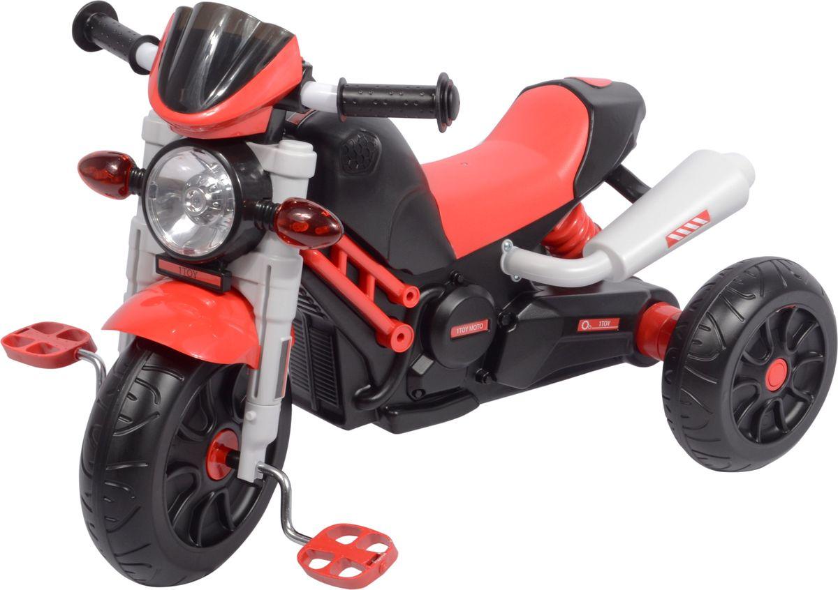 1toy Велосипед трехколесный цвет красный Т59702Т59702Диаметр переднего/заднего колеса: 10/8Максимальная нагрузка: 30 кгДля детей от 3 летКолеса: пластмассаМузыкальный чипСо светом
