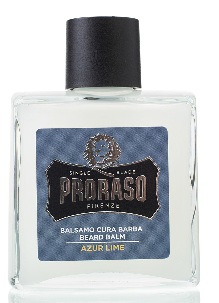 Proraso Бальзам для бороды Azur Lime 100 мл948274Бальзам для бороды создан для первых двух недель роста усов и бороды. Он помогает бороться с зудом, вызываемым ростом волос, смягчает бороду, а также питает и освежает кожу, благодаря смягчающим свойствам мяты