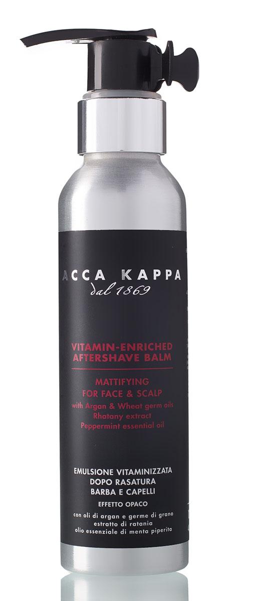 Acca Kappa Бальзам после бритья 125 мл15032030Интенсивно питающий бальзам после бритья разработан для уменьшения раздражения, вызванного бритьем. Борется с излишним блеском и придает коже приятное ощущение свежести.