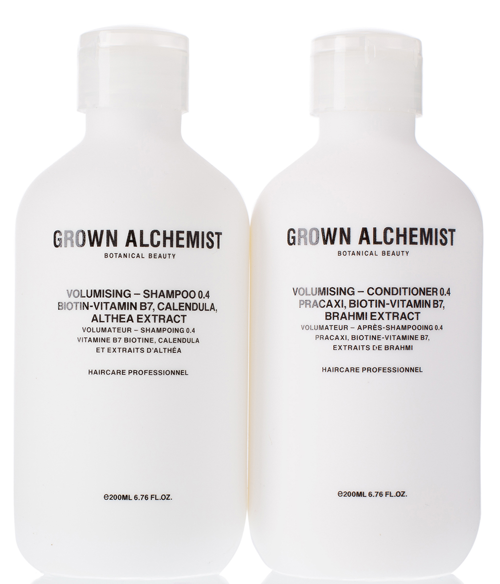 Grown Alchemist Набор для придания объема волосам (Шампунь для придания объема волосам 200 мл, Кондиционер для придания объема волосам 200 мл)