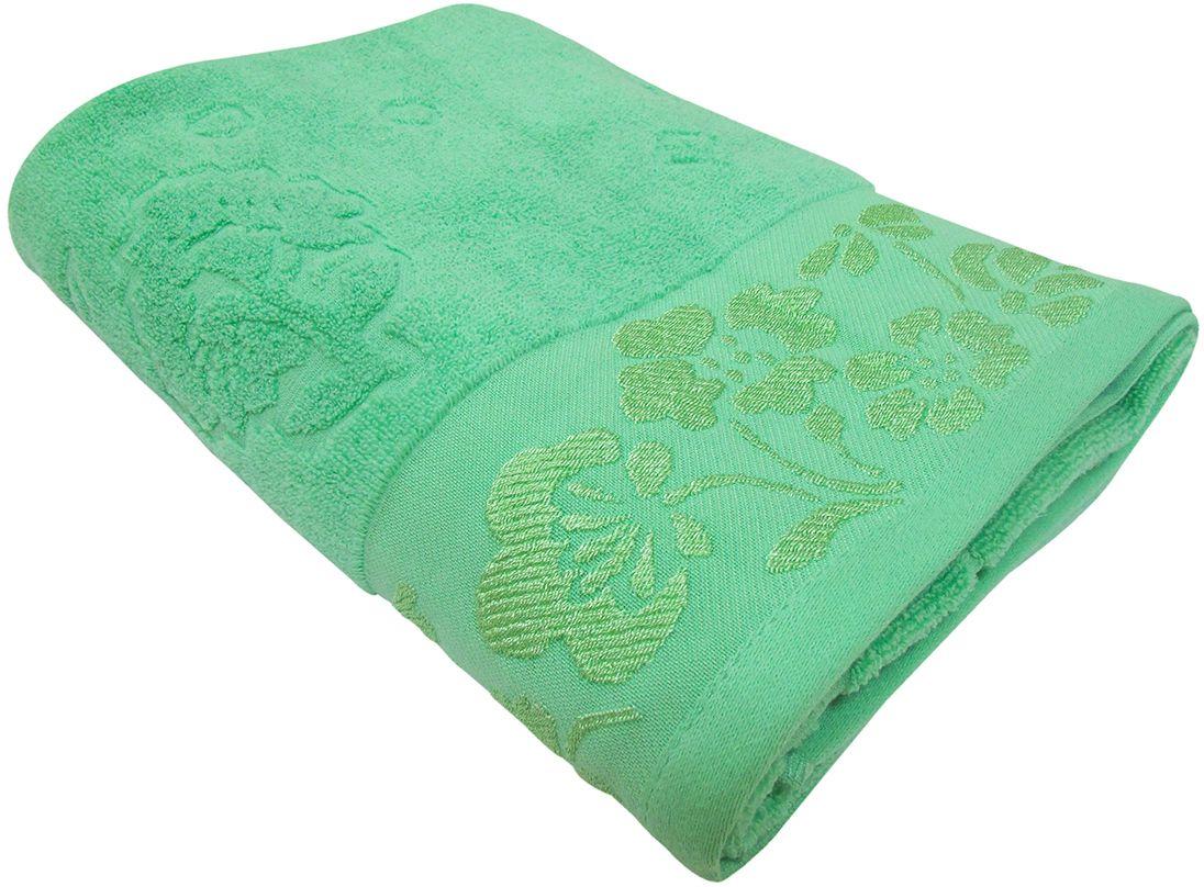 Полотенце махровое Bravo Ромашка, цвет: зеленый, 50 х 90 смS03301004Полотенце Ромашка выполнено из натуральной махровой ткани (100% хлопок). Изделие отлично впитывает влагу, быстро сохнет, сохраняет яркость цвета и не теряет форму даже после многократных стирок. Полотенце очень практично и неприхотливо в уходе. Оно создаст прекрасное настроение и украсит интерьер в ванной комнате.