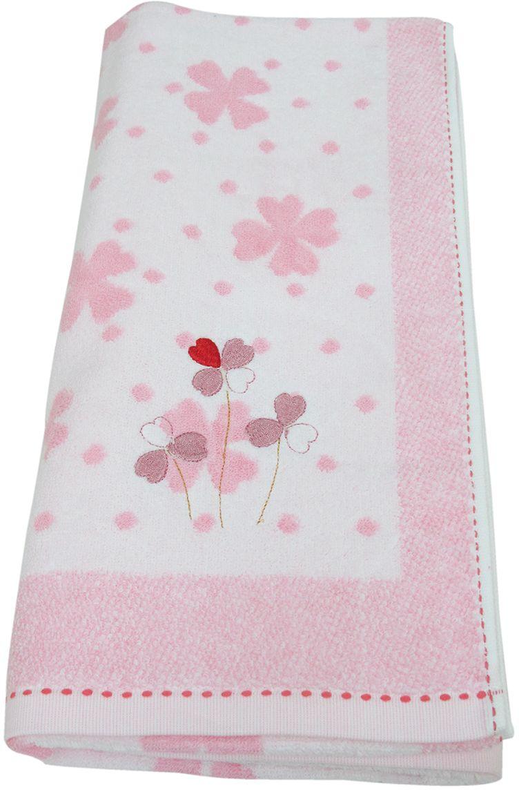 Полотенце махровое НВ Клевер, цвет: розовый, 70 х 140 см. м0240_21004900000360Полотенце НВ  Клевер выполнено из натуральной махровой ткани (100% хлопок) и дополнено цветочным принтом. Изделие отлично впитывает влагу, быстро сохнет, сохраняет яркость цвета и не теряет форму даже после многократных стирок. Полотенце очень практично и неприхотливо в уходе. Оно станет достойным выбором для вас и приятным подарком вашим близким.