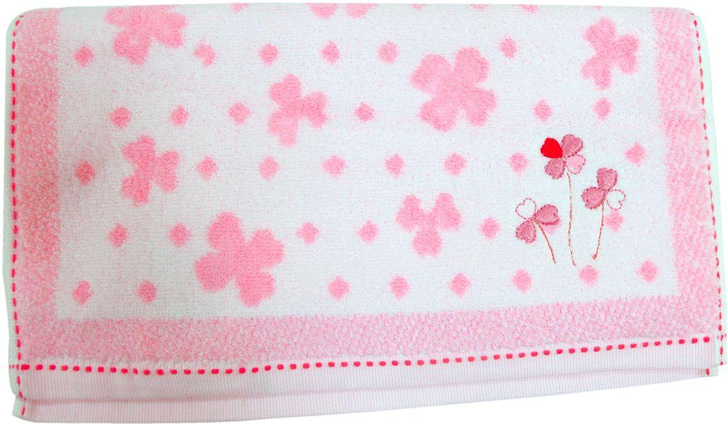 Полотенце махровое Bravo Клевер, цвет: белый, розовый, 33 х 70 см531-401Полотенце Клевер выполнено из натуральной махровой ткани (100% хлопок). Изделие отлично впитывает влагу, быстро сохнет, сохраняет яркость цвета и не теряет форму даже после многократных стирок. Полотенце очень практично и неприхотливо в уходе. Оно создаст прекрасное настроение и украсит интерьер в ванной комнате.