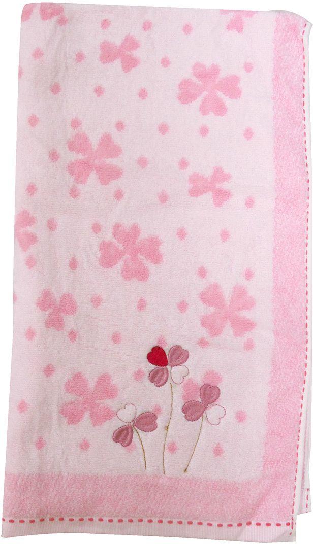 Полотенце махровое Bravo Клевер, цвет: белый, розовый, 50 х 90 см391602Полотенце Клевер выполнено из натуральной махровой ткани (100% хлопок). Изделие отлично впитывает влагу, быстро сохнет, сохраняет яркость цвета и не теряет форму даже после многократных стирок. Полотенце очень практично и неприхотливо в уходе. Оно создаст прекрасное настроение и украсит интерьер в ванной комнате.