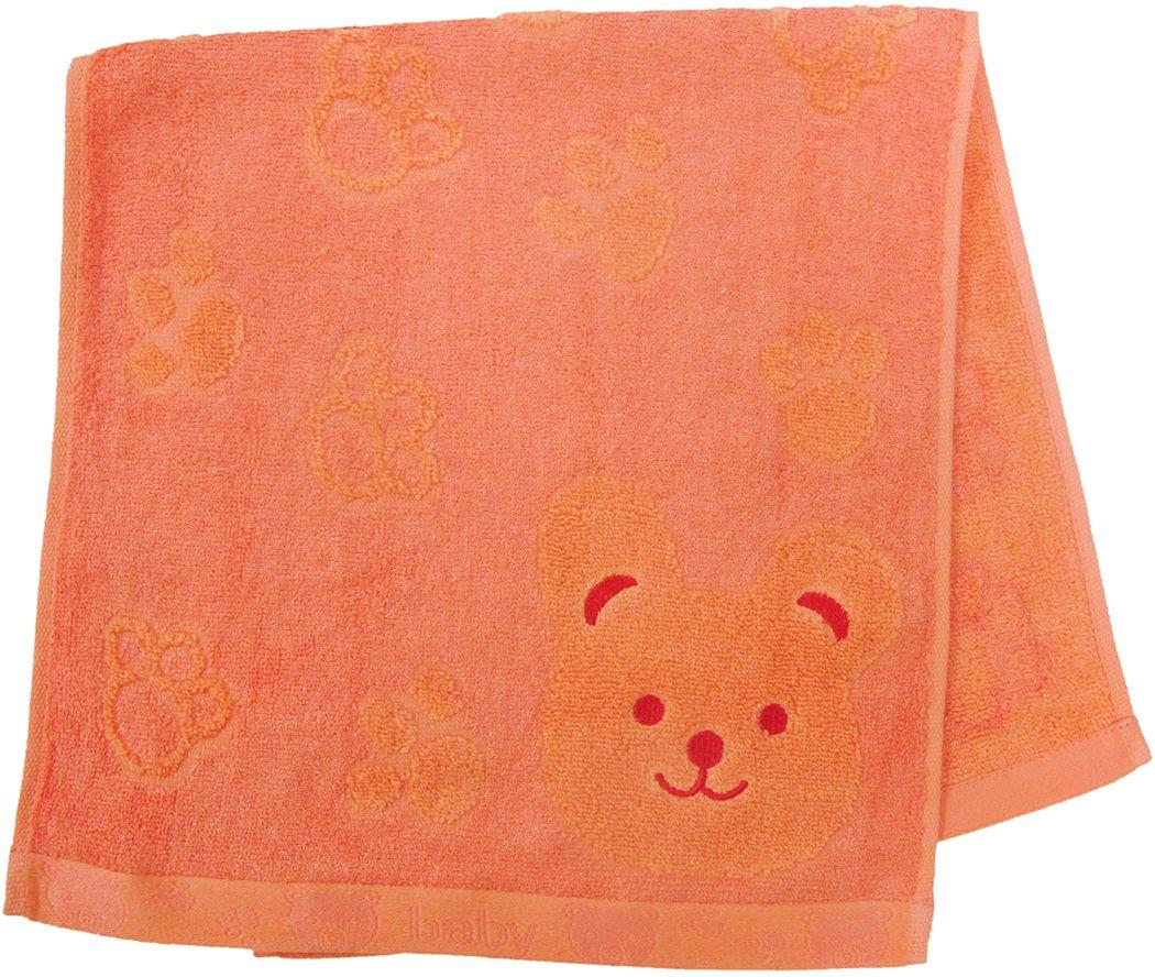 Полотенце махровое Bravo Счастливый медведь, цвет: оранжевый, 33 х 70 см68/5/1Полотенце Счастливый медведь выполнено из натуральной махровой ткани (хлопок, бамбук). Изделие отлично впитывает влагу, быстро сохнет, сохраняет яркость цвета и не теряет форму даже после многократных стирок. Полотенце очень практично и неприхотливо в уходе. Оно создаст прекрасное настроение и украсит интерьер в ванной комнате.