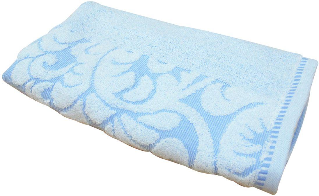 Полотенце махровое Bravo Версаль, цвет: синий, белый, 50 х 90 см55732Полотенце Версаль выполнено из натуральной махровой ткани (100% хлопок). Изделие отлично впитывает влагу, быстро сохнет, сохраняет яркость цвета и не теряет форму даже после многократных стирок. Полотенце очень практично и неприхотливо в уходе. Оно создаст прекрасное настроение и украсит интерьер в ванной комнате.