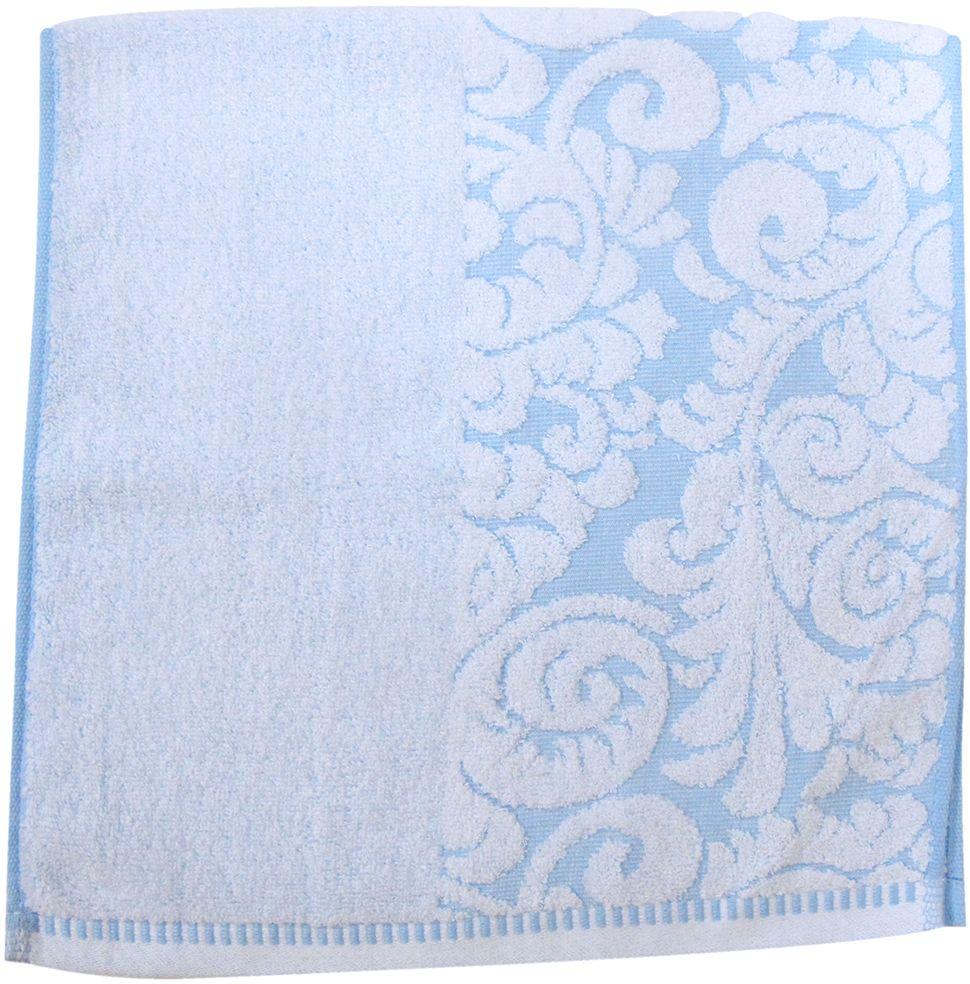 Полотенце махровое Bravo Версаль, цвет: синий, белый, 33 х 70 см1004900000360Полотенце Версаль выполнено из натуральной махровой ткани (100% хлопок). Изделие отлично впитывает влагу, быстро сохнет, сохраняет яркость цвета и не теряет форму даже после многократных стирок. Полотенце очень практично и неприхотливо в уходе. Оно создаст прекрасное настроение и украсит интерьер в ванной комнате.