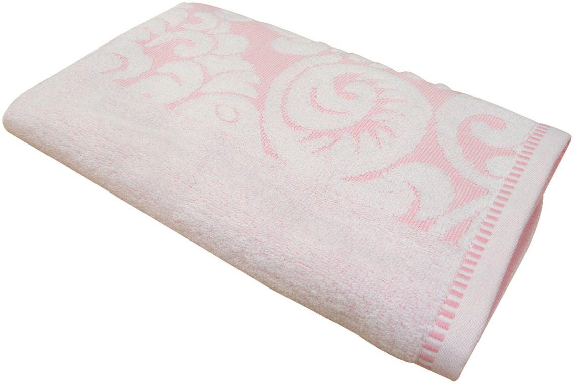 Полотенце махровое Bravo Версаль, цвет: розовый, белый, 50 х 90 смC0042416Полотенце Версаль выполнено из натуральной махровой ткани (100% хлопок). Изделие отлично впитывает влагу, быстро сохнет, сохраняет яркость цвета и не теряет форму даже после многократных стирок. Полотенце очень практично и неприхотливо в уходе. Оно создаст прекрасное настроение и украсит интерьер в ванной комнате.