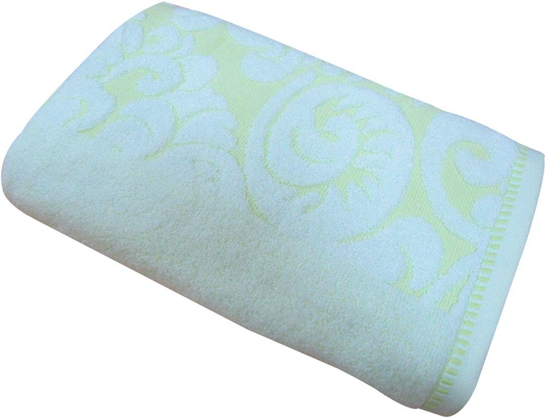 Полотенце махровое Bravo Версаль, цвет: зеленый, белый, 50 х 90 см55738Полотенце Версаль выполнено из натуральной махровой ткани (100% хлопок). Изделие отлично впитывает влагу, быстро сохнет, сохраняет яркость цвета и не теряет форму даже после многократных стирок. Полотенце очень практично и неприхотливо в уходе. Оно создаст прекрасное настроение и украсит интерьер в ванной комнате.