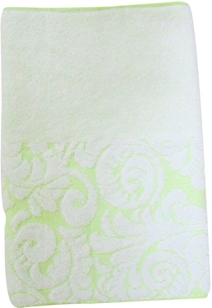 Полотенце махровое Bravo Версаль, цвет: зеленый, белый, 33 х 70 см махровое полотенце версаль bravo