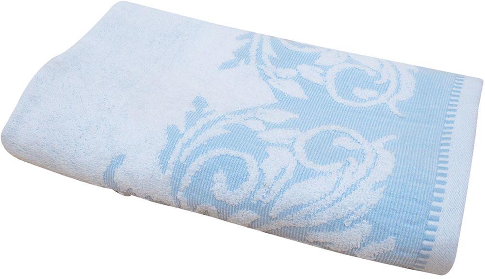 Полотенце махровое Bravo Венеция, цвет: синий, белый, 50 х 90 см84549Полотенце Венеция выполнено из натуральной махровой ткани (100% хлопок). Изделие отлично впитывает влагу, быстро сохнет, сохраняет яркость цвета и не теряет форму даже после многократных стирок. Полотенце очень практично и неприхотливо в уходе. Оно создаст прекрасное настроение и украсит интерьер в ванной комнате.