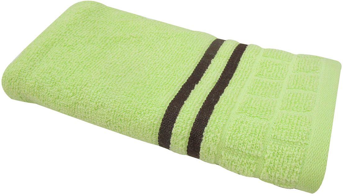 Полотенце махровое Bravo Лана, цвет: зеленый, 33 х 70 см70756Полотенце Лана выполнено из натуральной махровой ткани (100% хлопок). Изделие отлично впитывает влагу, быстро сохнет, сохраняет яркость цвета и не теряет форму даже после многократных стирок. Полотенце очень практично и неприхотливо в уходе. Оно создаст прекрасное настроение и украсит интерьер в ванной комнате.