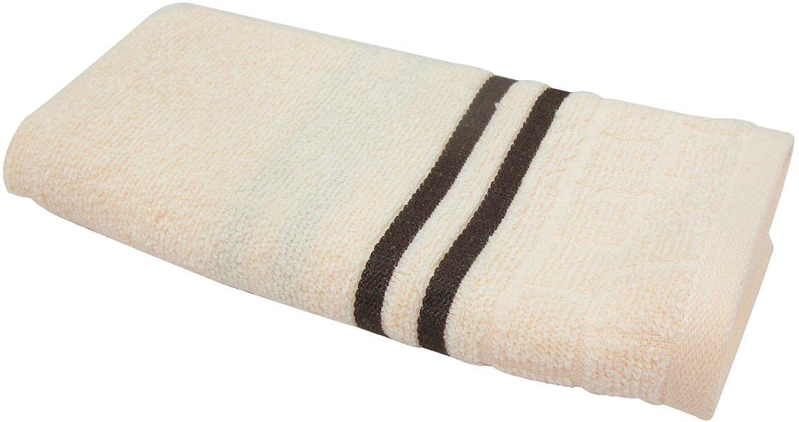 Полотенце махровое Bravo Лана, цвет: бежевый, 33 х 70 см97775318Полотенце Лана выполнено из натуральной махровой ткани (100% хлопок). Изделие отлично впитывает влагу, быстро сохнет, сохраняет яркость цвета и не теряет форму даже после многократных стирок. Полотенце очень практично и неприхотливо в уходе. Оно создаст прекрасное настроение и украсит интерьер в ванной комнате.