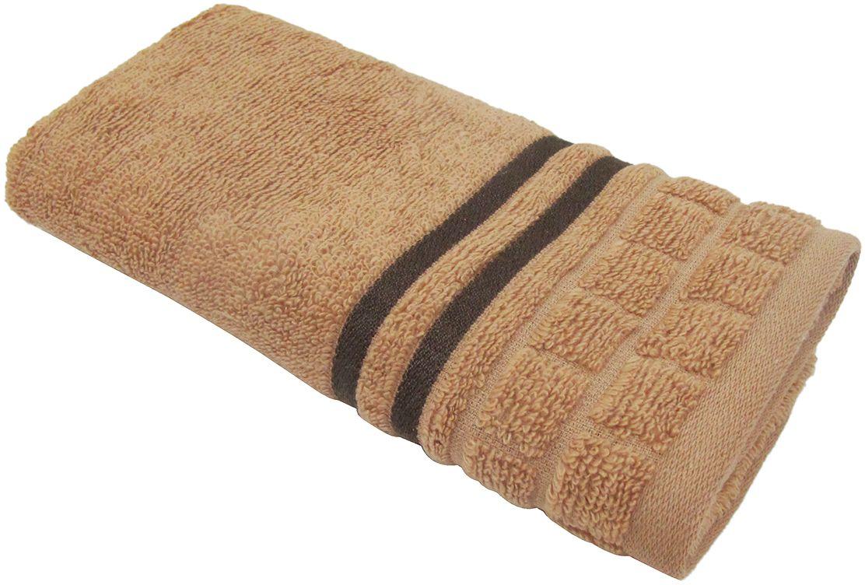 Полотенце махровое Bravo Лана, цвет: коричневый, 33 х 70 смPH3265Полотенце Лана выполнено из натуральной махровой ткани (100% хлопок). Изделие отлично впитывает влагу, быстро сохнет, сохраняет яркость цвета и не теряет форму даже после многократных стирок. Полотенце очень практично и неприхотливо в уходе. Оно создаст прекрасное настроение и украсит интерьер в ванной комнате.