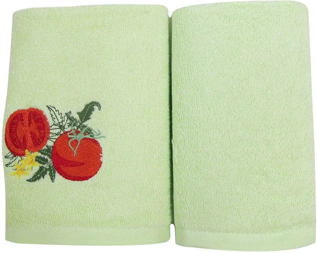 Набор махровых полотенец Bravo Фрукты/овощи, цвет: зеленый, 30 х 50 см, 2 шт. м0571_0312723Набор Bravo состоит из двух махровых полотенец, выполненных из натурального 100% хлопка. Изделия отлично впитывают влагу, быстро сохнут, сохраняют яркость цвета и не теряют формы даже после многократных стирок.Полотенца Bravo очень практичны и неприхотливы в уходе.