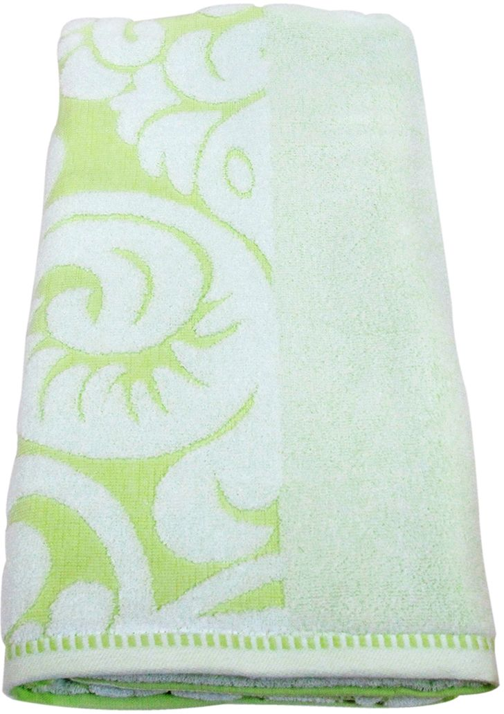 Полотенце махровое Bravo Версаль, цвет: зеленый, белый, 70 х 130 см махровое полотенце версаль bravo