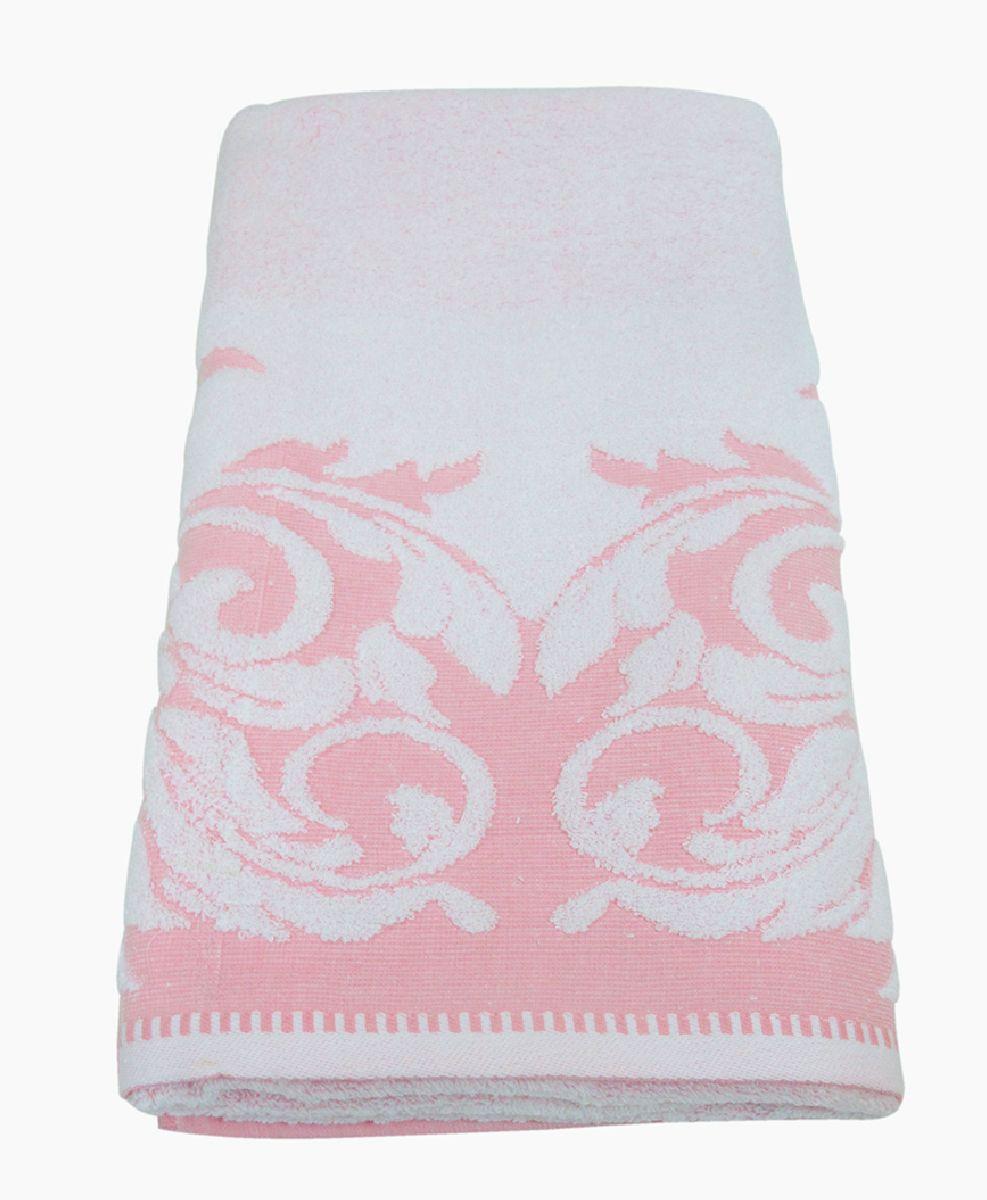 Полотенце махровое Bravo Венеция, цвет: розовый, белый, 70 х 130 смS03301004Полотенце Венеция выполнено из натуральной махровой ткани (100% хлопок). Изделие отлично впитывает влагу, быстро сохнет, сохраняет яркость цвета и не теряет форму даже после многократных стирок. Полотенце очень практично и неприхотливо в уходе. Оно создаст прекрасное настроение и украсит интерьер в ванной комнате.