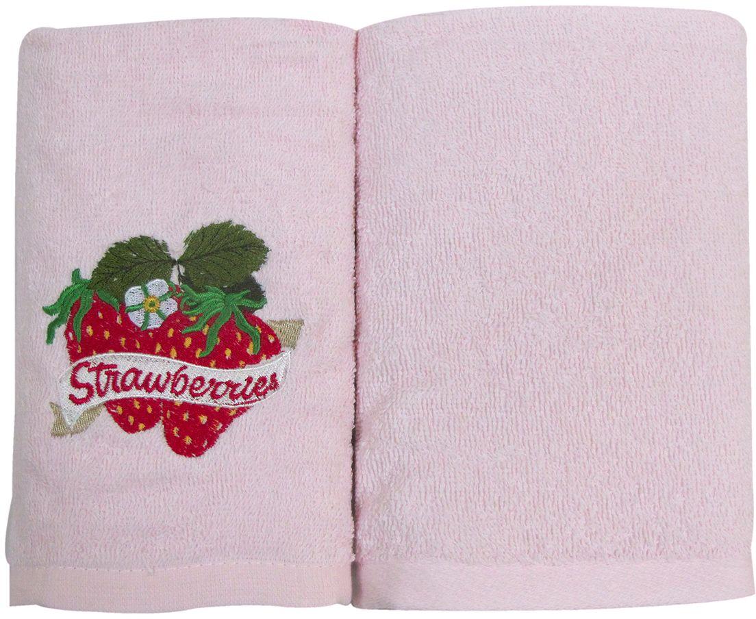 Набор махровых полотенец Bravo Фрукты/овощи, цвет: розовый, 30 х 50 см, 2 шт. м0627_0211451/1W TOONНабор Bravo состоит из двух махровых полотенец, выполненных из натурального 100% хлопка. Изделия отлично впитывают влагу, быстро сохнут, сохраняют яркость цвета и не теряют формы даже после многократных стирок.Полотенца Bravo очень практичны и неприхотливы в уходе.