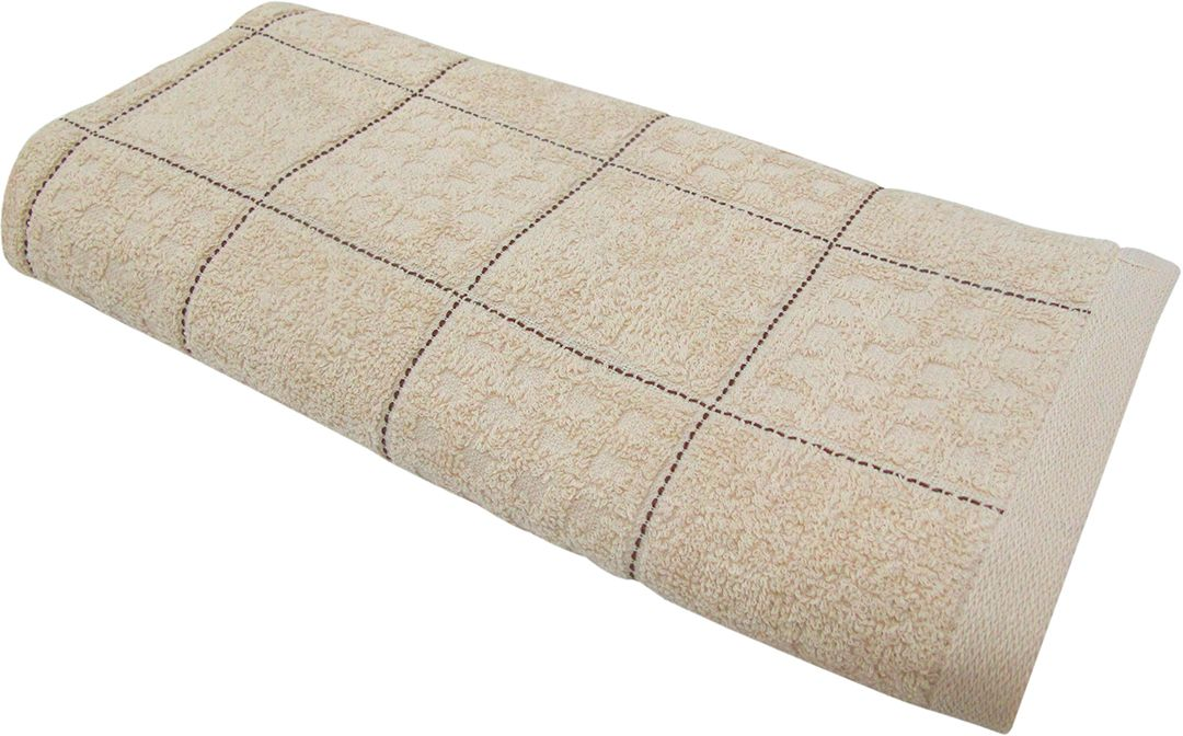 Полотенце махровое НВ Квадро, цвет: бежевый, 45 х 90 см. м1081_0580816