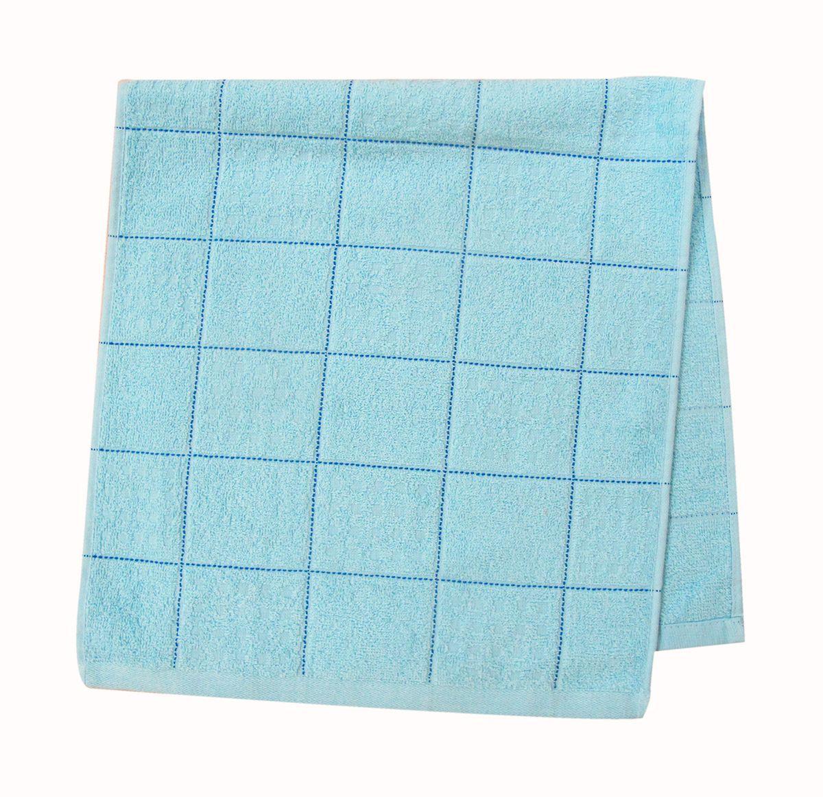 Полотенце махровое НВ Квадро, цвет: синий, 33 х 70 см. м1081_0180820