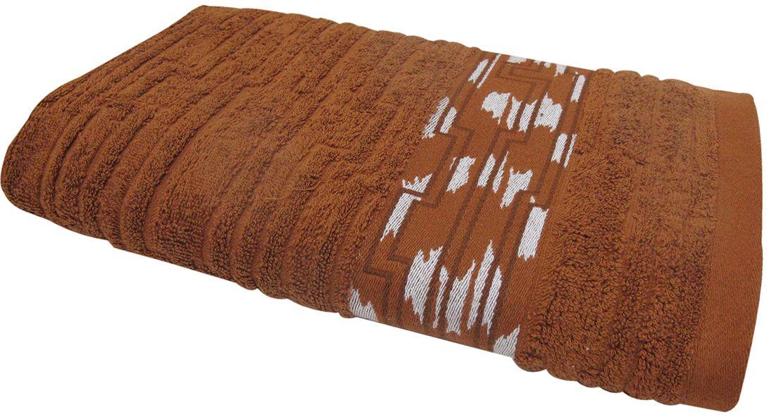 Полотенце махровое Bravo Нюанс, цвет: коричневый, 50 х 90 см84580Полотенце Нюанс выполнено из натуральной махровой ткани (100% хлопок). Изделие отлично впитывает влагу, быстро сохнет, сохраняет яркость цвета и не теряет форму даже после многократных стирок. Полотенце очень практично и неприхотливо в уходе. Оно создаст прекрасное настроение и украсит интерьер в ванной комнате.