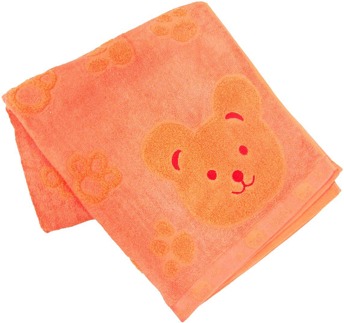 Полотенце махровое Bravo Счастливый медведь, цвет: оранжевый, 60 х 120 см68/5/4Полотенце Счастливый медведь выполнено из натуральной махровой ткани (хлопок, бамбук). Изделие отлично впитывает влагу, быстро сохнет, сохраняет яркость цвета и не теряет форму даже после многократных стирок. Полотенце очень практично и неприхотливо в уходе. Оно создаст прекрасное настроение и украсит интерьер в ванной комнате.