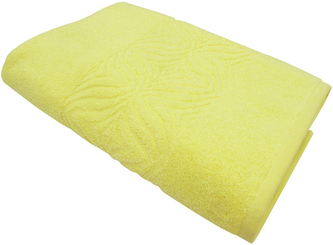 Полотенце махровое Bravo Комфорт, цвет: желтый, 45 х 90 см полотенце махровое bravo венеция цвет розовый белый 50 х 90 см
