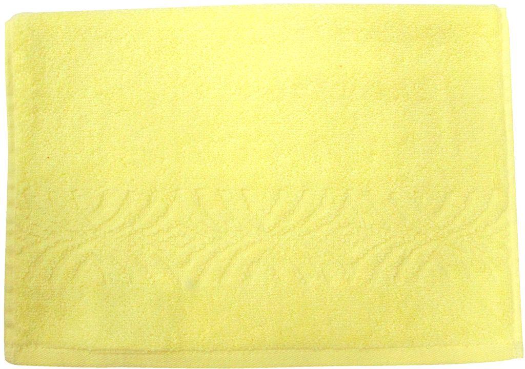 Полотенце махровое Bravo Комфорт, цвет: желтый, 33 х 70 см85505Полотенце Комфорт выполнено из натуральной махровой ткани (100% хлопок). Изделие отлично впитывает влагу, быстро сохнет, сохраняет яркость цвета и не теряет форму даже после многократных стирок. Полотенце очень практично и неприхотливо в уходе. Оно создаст прекрасное настроение и украсит интерьер в ванной комнате.