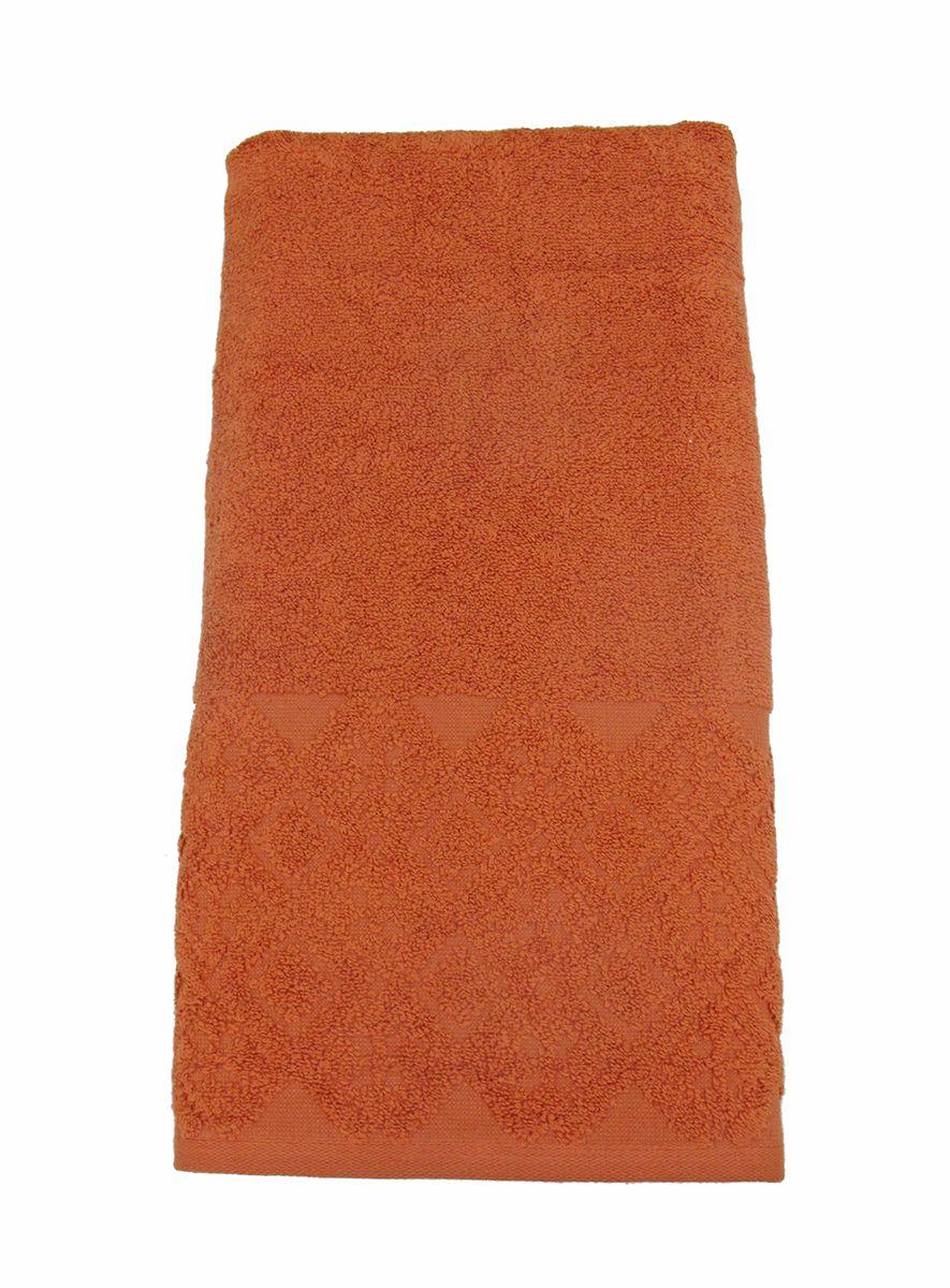 Полотенце махровое Bravo Вдохновение, цвет: терракотовый, 65 х 130 смRSP-202SПолотенце Вдохновение выполнено из натуральной махровой ткани (100% хлопок). Изделие отлично впитывает влагу, быстро сохнет, сохраняет яркость цвета и не теряет форму даже после многократных стирок. Полотенце очень практично и неприхотливо в уходе. Оно создаст прекрасное настроение и украсит интерьер в ванной комнате.