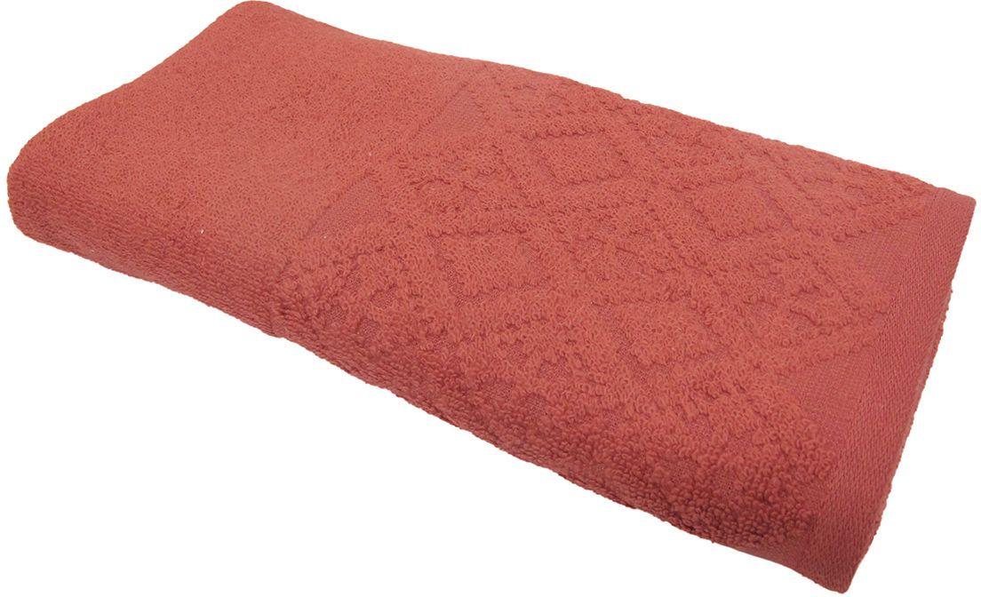 Полотенце махровое Bravo Вдохновение, цвет: терракотовый, 45 х 90 см68/5/3Полотенце Вдохновение выполнено из натуральной махровой ткани (100% хлопок). Изделие отлично впитывает влагу, быстро сохнет, сохраняет яркость цвета и не теряет форму даже после многократных стирок. Полотенце очень практично и неприхотливо в уходе. Оно создаст прекрасное настроение и украсит интерьер в ванной комнате.