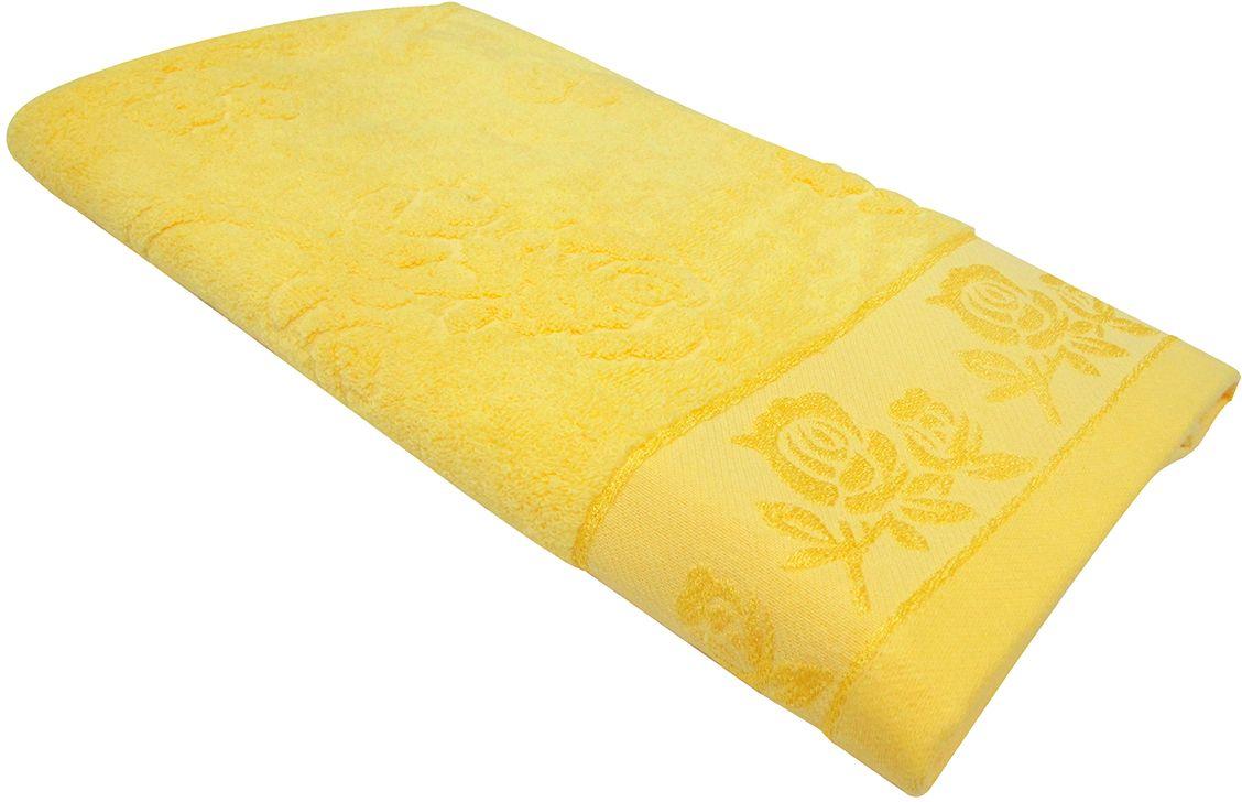 Полотенце махровое Bravo Аваланж, цвет: желтый, 65 х 130 см1011217216Полотенце Аваланж выполнено из натуральной махровой ткани (100% хлопок). Изделие отлично впитывает влагу, быстро сохнет, сохраняет яркость цвета и не теряет форму даже после многократных стирок. Полотенце очень практично и неприхотливо в уходе. Оно создаст прекрасное настроение и украсит интерьер в ванной комнате.