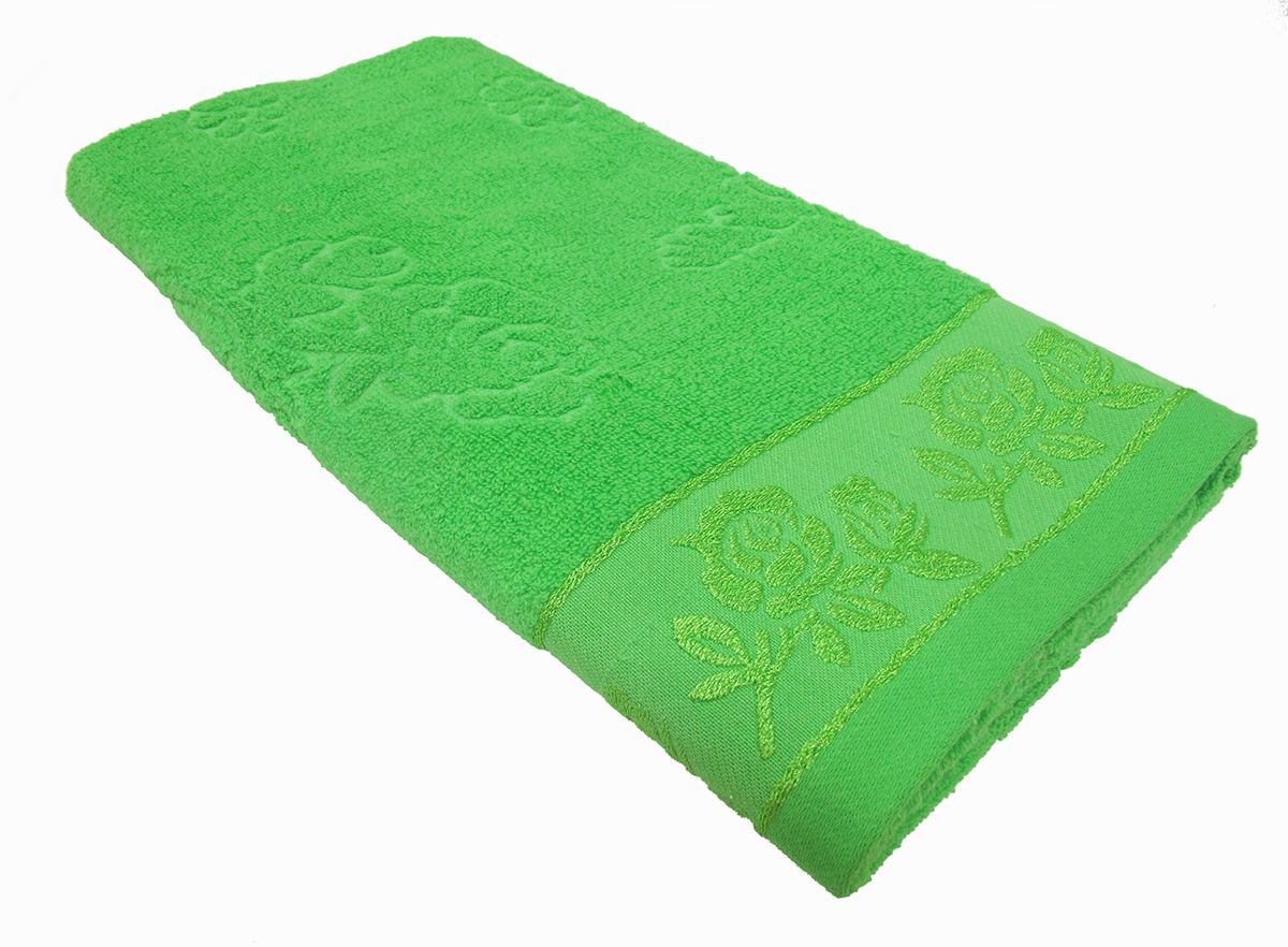 Полотенце махровое Bravo Аваланж, цвет: зеленый, 65 х 130 см391602Полотенце Аваланж выполнено из натуральной махровой ткани (100% хлопок). Изделие отлично впитывает влагу, быстро сохнет, сохраняет яркость цвета и не теряет форму даже после многократных стирок. Полотенце очень практично и неприхотливо в уходе. Оно создаст прекрасное настроение и украсит интерьер в ванной комнате.