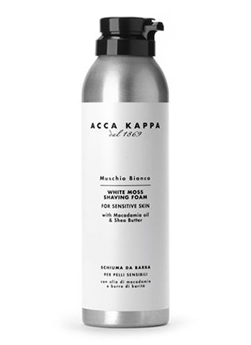 Acca Kappa Пена для бритья Белый Мускус 200 мл28032022Пена для бритья с маслом макадамии и маслом ши. Обладает смягчающими и увлажняющими свойствами, которые делают бритье легче.