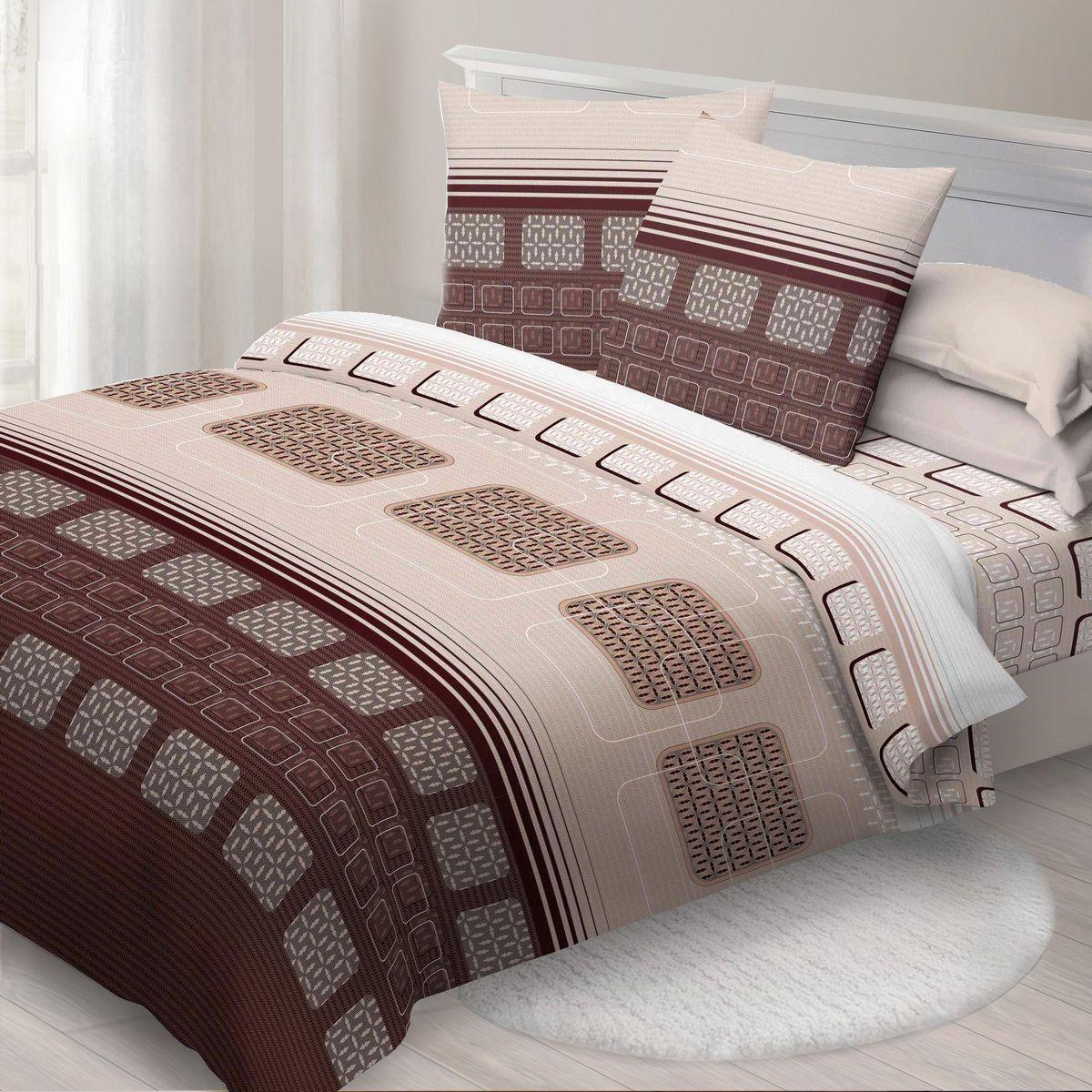 Комплект белья Спал Спалыч Синтез, 2-спальное, наволочки 70x70, цвет: коричневый01-1431-1Спал Спалыч - недорогое, но качественное постельное белье из белорусской бязи. Актуальные дизайны, авторская упаковка в сочетании с качественными материалами и приемлемой ценой - залог успеха Спал Спалыча!В ассортименте широкая линейка домашнего текстиля для всей семьи - современные дизайны современному покупателю! Ткань обработана по технологии PERFECT WAY - благодаря чему, она становится более гладкой и шелковистой.• Бязь Барановичи 100% хлопок• Плотность ткани - 125 гр/кв.м.
