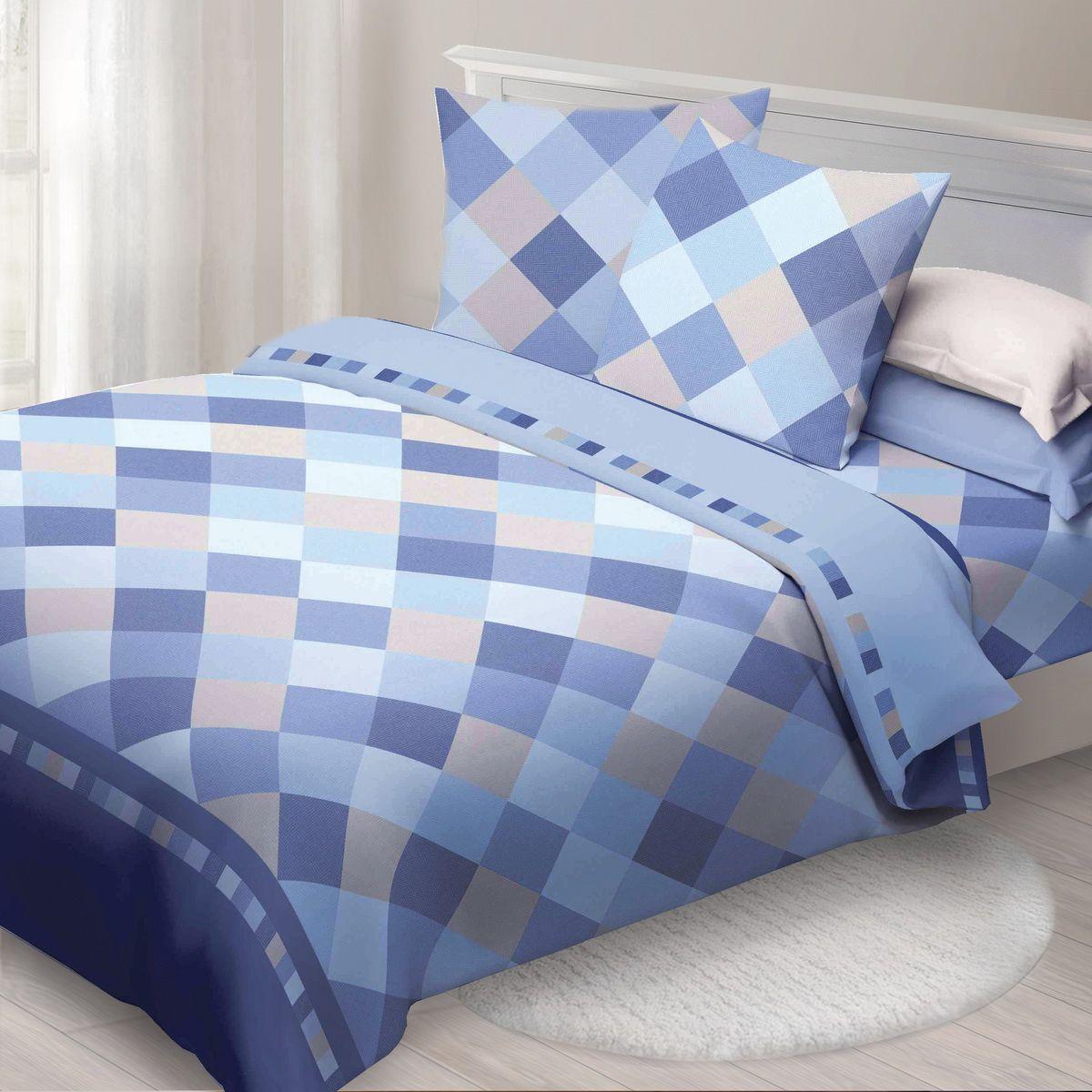 Комплект белья Спал Спалыч Твил, 2-спальное, наволочки 70x70, цвет: голубой91318Спал Спалыч - недорогое, но качественное постельное белье из белорусской бязи. Актуальные дизайны, авторская упаковка в сочетании с качественными материалами и приемлемой ценой - залог успеха Спал Спалыча!В ассортименте широкая линейка домашнего текстиля для всей семьи - современные дизайны современному покупателю! Ткань обработана по технологии PERFECT WAY - благодаря чему, она становится более гладкой и шелковистой.• Бязь Барановичи 100% хлопок• Плотность ткани - 125 гр/кв.м.