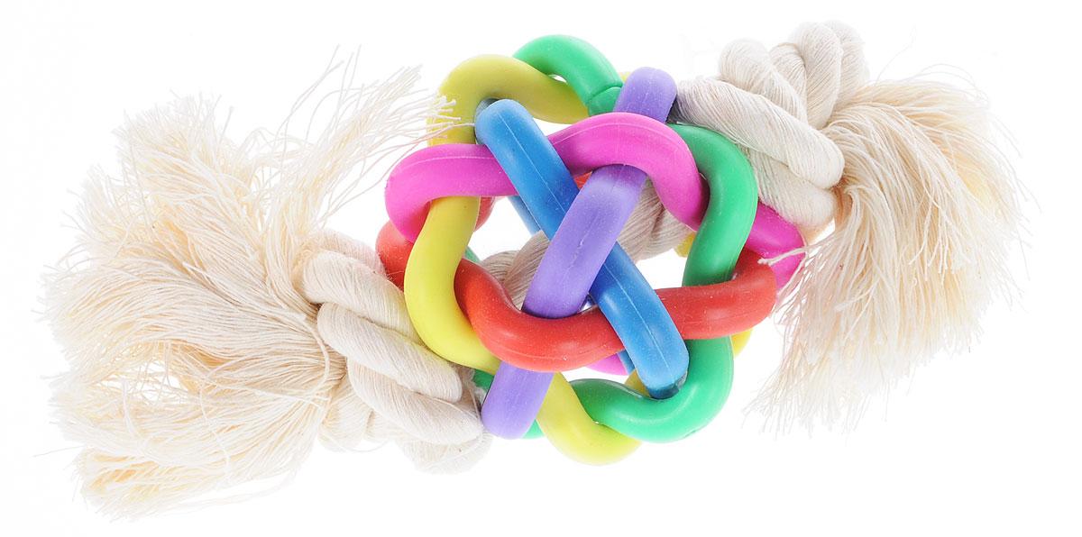 Игрушка для собак Zoobaloo Мяч. 423 игрушка для кошки плюшевый мяч с бубенчиком с кошачьей мятой zoobaloo