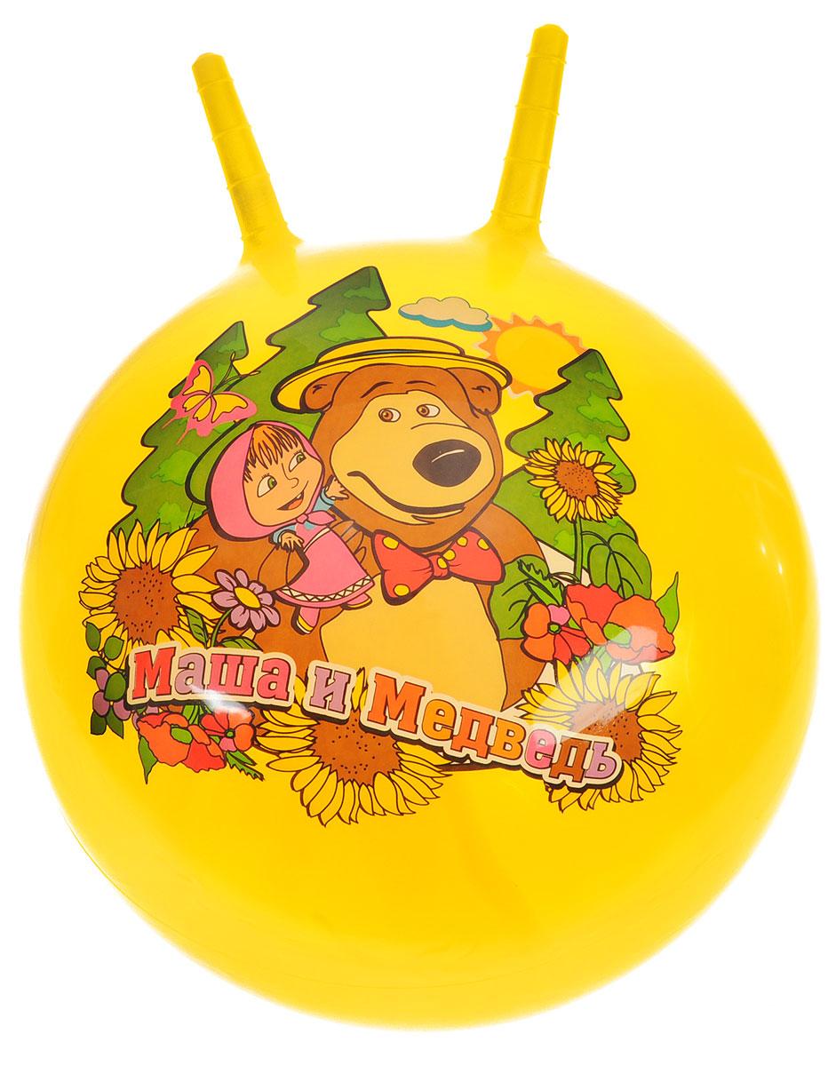 Играем вместе Мяч Маша и Медведь с рожками цвет желтый 45 см