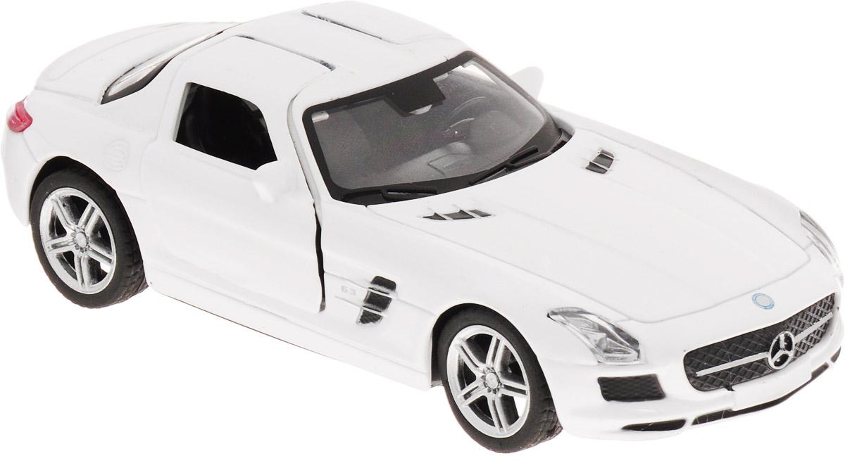Pitstop Машинка инерционная Mercedes-Benz SLS AMG цвет белый масштаб 1/32 электромобиль mercedes benz sls amg белый
