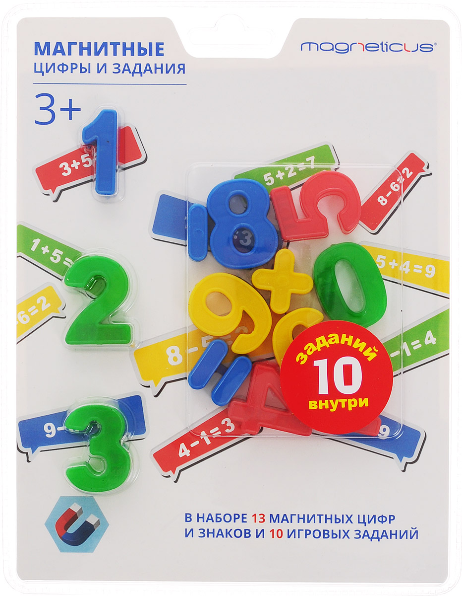 Magneticus Обучающая игра Магнитные цифры и задания настольная игра magneticus магнитные цикады шар sm 20bl