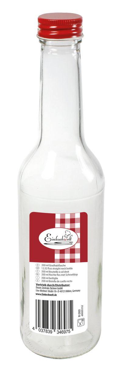 Бутылка Einkochwelt, 350 млVT-1520(SR)Бутылка Einkochwelt, выполненная из стекла, позволит украсить любую кухню, внеся разнообразие в кухонный интерьер. Она легка в использовании. Крышка плотно закручивается и дольше сохраняет свежесть продуктов.Оригинальная бутылка будет отлично смотреться на вашей кухне.Объем: 350 мл.