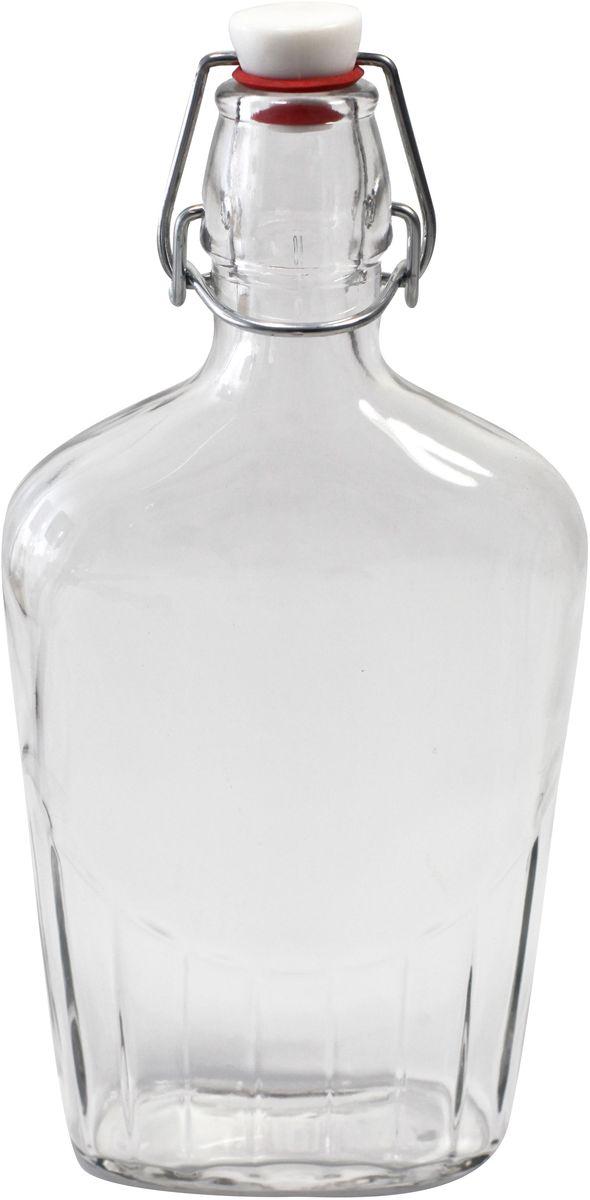 Бутылка Einkochwelt, с зажимом-клипсой, 500 мл. 358206VT-1520(SR)Бутылка Einkochwelt, выполненная из стекла, позволит украсить любую кухню, внеся разнообразие в кухонный интерьер. Она легка в использовании. Крышка плотно закрывается с помощью металлического зажима-клипсы, дольше сохраняя свежесть продуктов. Крышка оснащена силиконовым уплотнителем.Благодаря этому внутри сохраняется герметичность, и напитки дольше остаются свежими.Оригинальная бутылка будет отлично смотреться на вашей кухне.Объем: 500 мл.