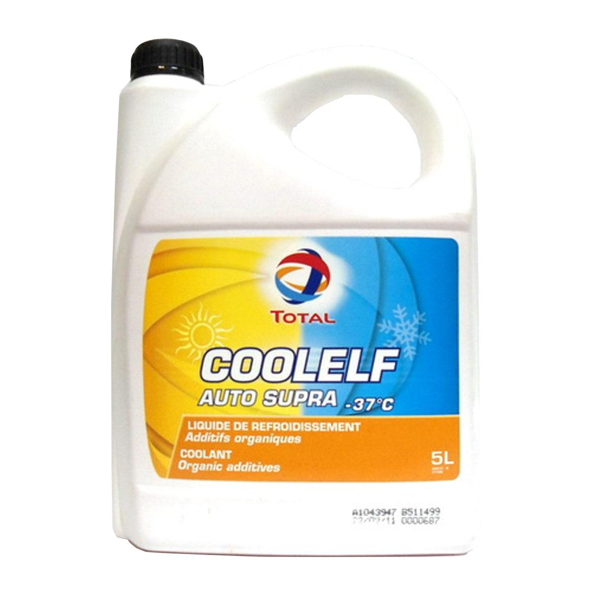 Охлаждающая жидкость Total Coolelf Auto Supra -37, 5 л147989Готовая охлаждающая жидкость с экстраувеличенным сроком службы на основе моноэтиленгликоля и органических ингибиторов коррозии. Температура застывания: -37°С. интервал замены - 5 лет (650 000 км для грузовиков, 250 000 км для легковых автомобилей). Жидкость уменьшает износ блока цилиндров и водяной помпы. не содержит силикатов, фосфатов, хроматов, нитритов или боратов. AFNOR NFR 15-601, BS 6580, ASTM D 3306, ASTM D 4656, ASTM D4985, MB 325.3, DEUTZ/MWM, FORD, MAN 324 TYP SNF, VW TL 774D, JAGUAR, LEYLAND TRUCKS, OPEL-GM 6277M, RENAULT VI, SCANIA, SAAB, SEAT, SKODA.